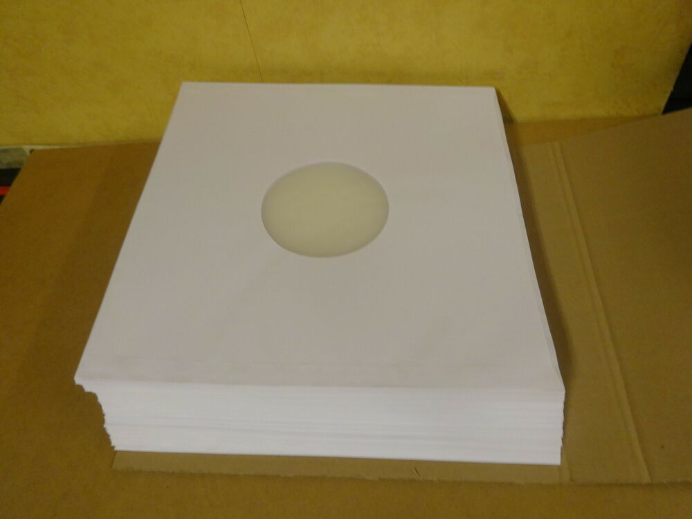 100 Deluxe Polylined Antistatic Paper Lp Inner Sleeves For