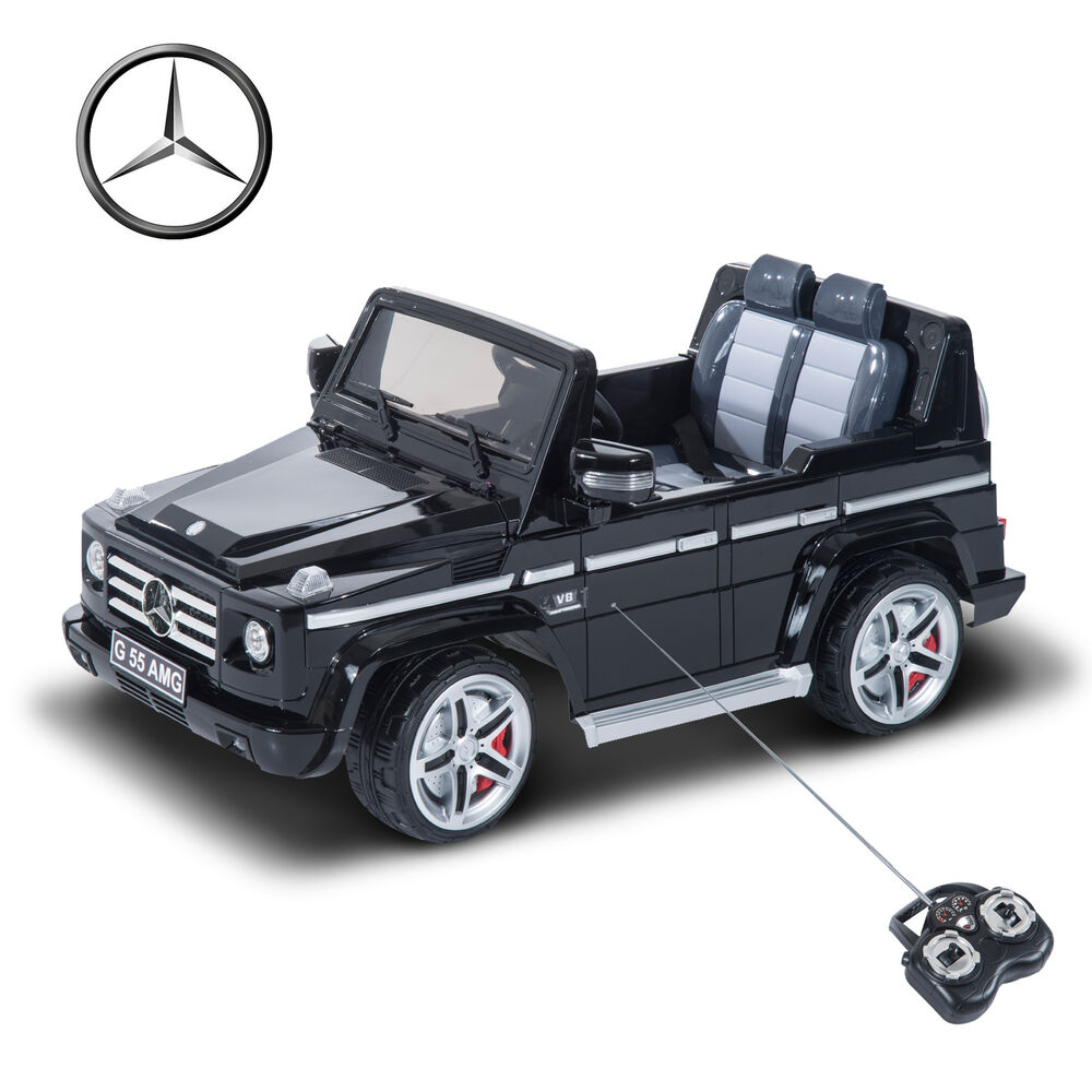 Mercedes benz g55 12v electric power ride on kids toy car for Mercedes benz toddler car