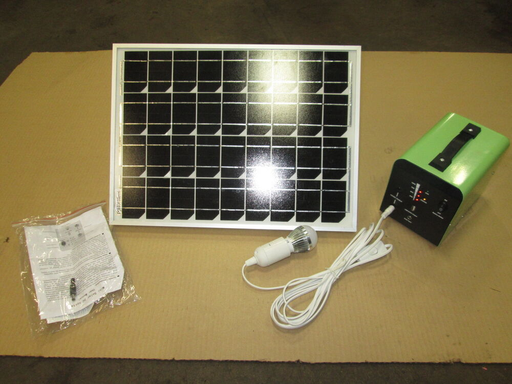 12 Volt Solar System Great For Cabins Hunting Camping