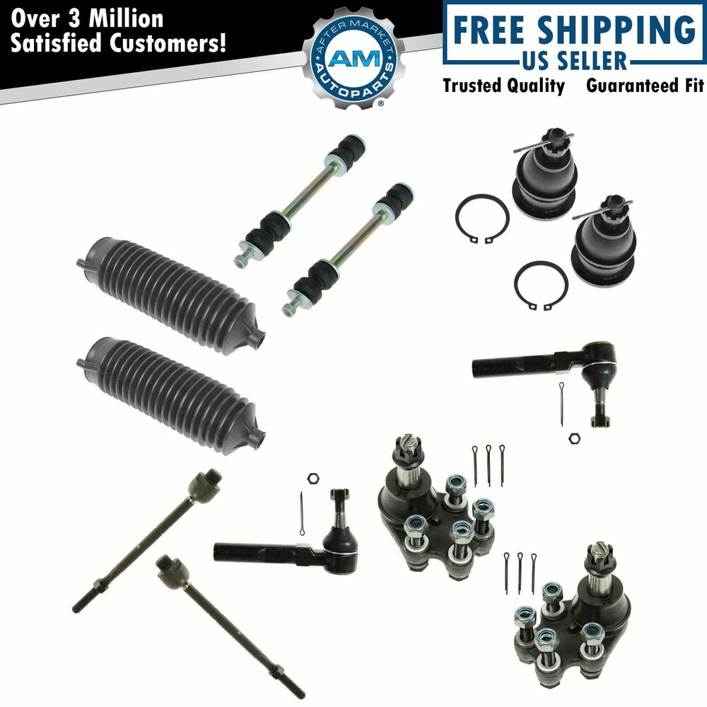 8 Piece Suspension Control Arm Tie Rod Kit Front For 92 96: Tie Rod Ball Joint Sway Bar Link 12 Piece Kit For Sierra