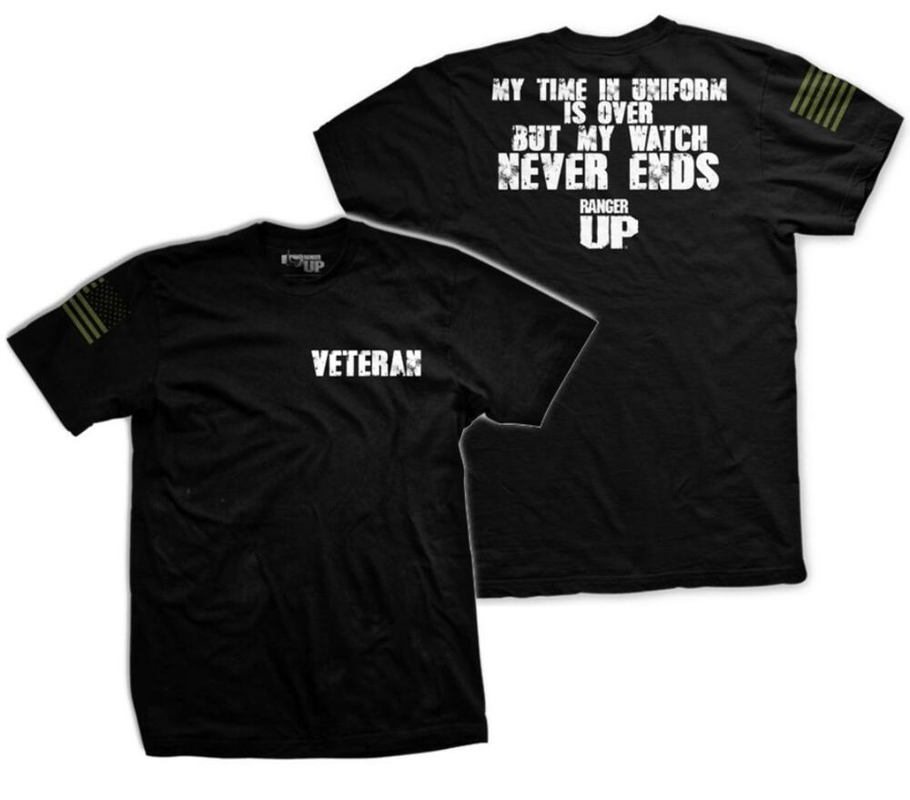 My watch never ends t shirt for army veteran by ranger up for Veteran t shirts patriotic t shirts