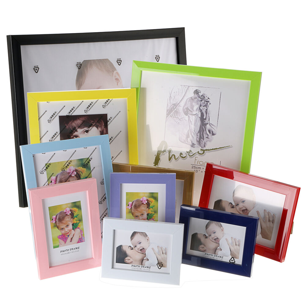 Various sizes photo picture frames small large for table for How to display picture frames on a table