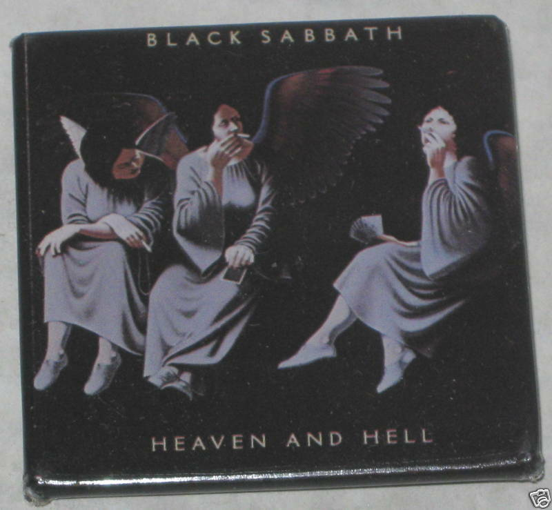 black sabbath heaven hell album pin 2 x 2 ebay. Black Bedroom Furniture Sets. Home Design Ideas
