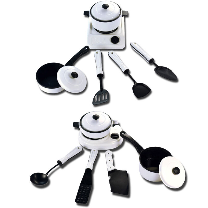 6pcs Kids Play Toy Kitchen Utensils Pots Pans Cooking Food Dishes Cookware 1set Ebay