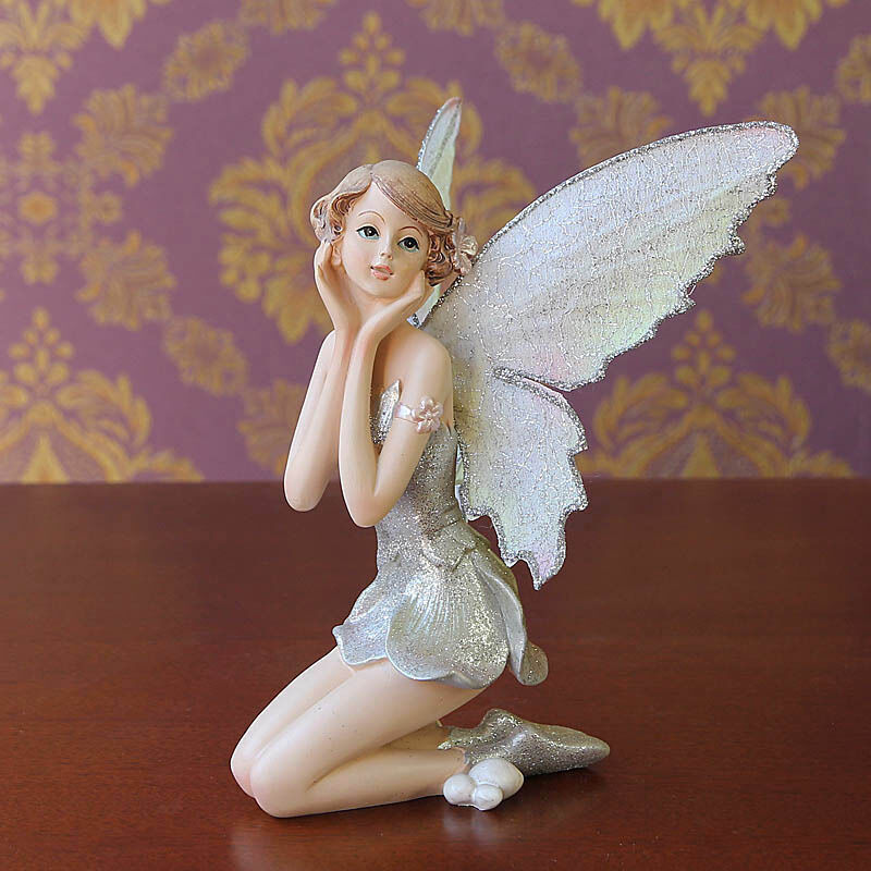 Home decor angel sprite miniature fairy garden doll statue for Fairy garden figurines
