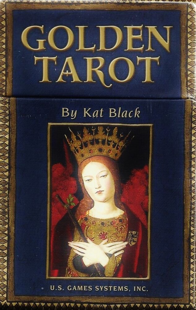 GOLDEN TAROT Medieval Renaissance Deck & Book Card Set