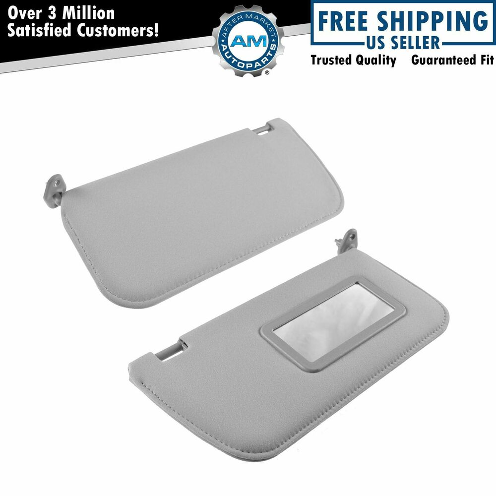 Oem Sun Visor Gray Cloth Kit Pair Set Of 2 For Nissan