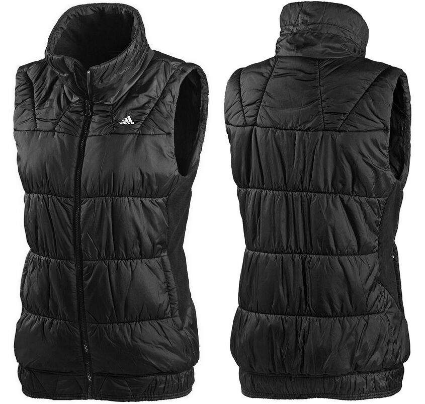 adidas damen weste bodywarmer steppweste vest winter jacke outdoor schwarz 40 m ebay. Black Bedroom Furniture Sets. Home Design Ideas