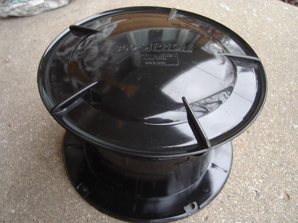 Rv 360 Siphon Sewer Vent Cap Fume Extractor Black Odor
