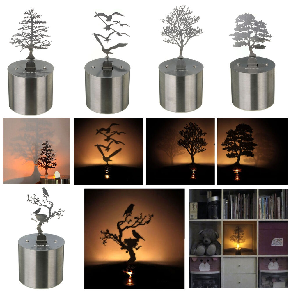 Shadow Projection Lamp Romantic Night Light Led Candle