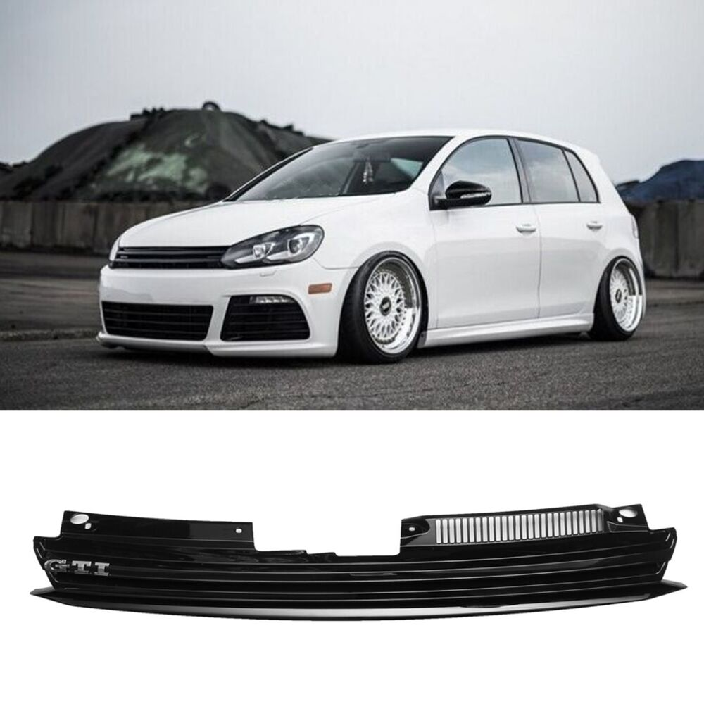 front badgeless debadged black sport grill for vw golf gti jetta mk6 2008 on ebay. Black Bedroom Furniture Sets. Home Design Ideas