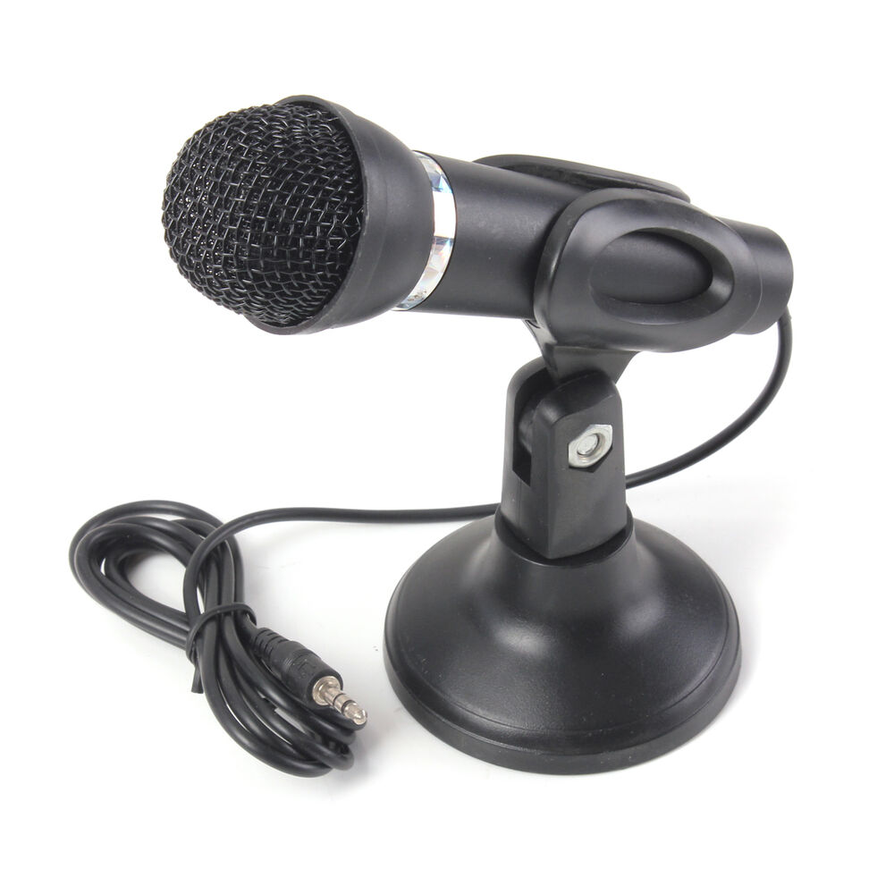 3 5mm Stereo Studio Speech Microphone Mic Stand Mount For