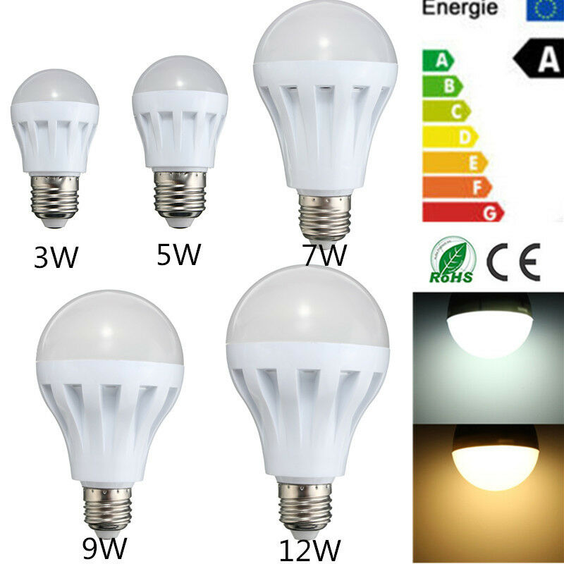 e27 energy saving led 3w 5w 7w 9w 12w bulbs light lamp ac 110 220v dc 12v home ebay. Black Bedroom Furniture Sets. Home Design Ideas
