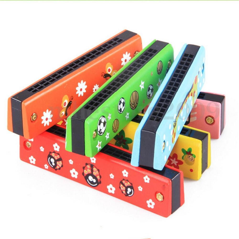 Musical Instruments Toys : Baby children kids wooden harmonica musical instrument