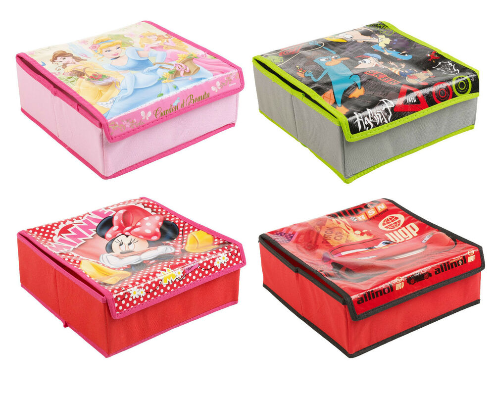 ... Childrens Stationery Storage Box Folding Case Toy - 4 Designs | eBay