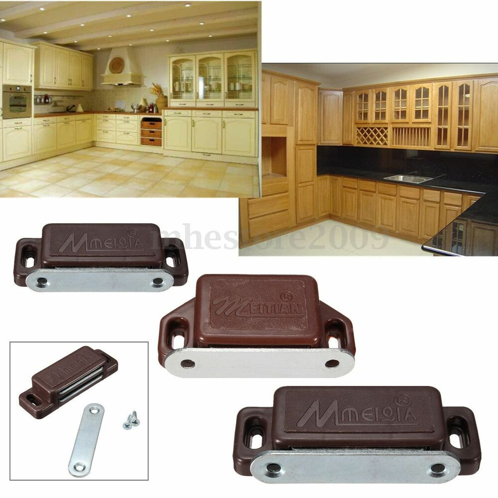 magnetic door catches kitchen cupboard wardrobe cabinet drawer latch