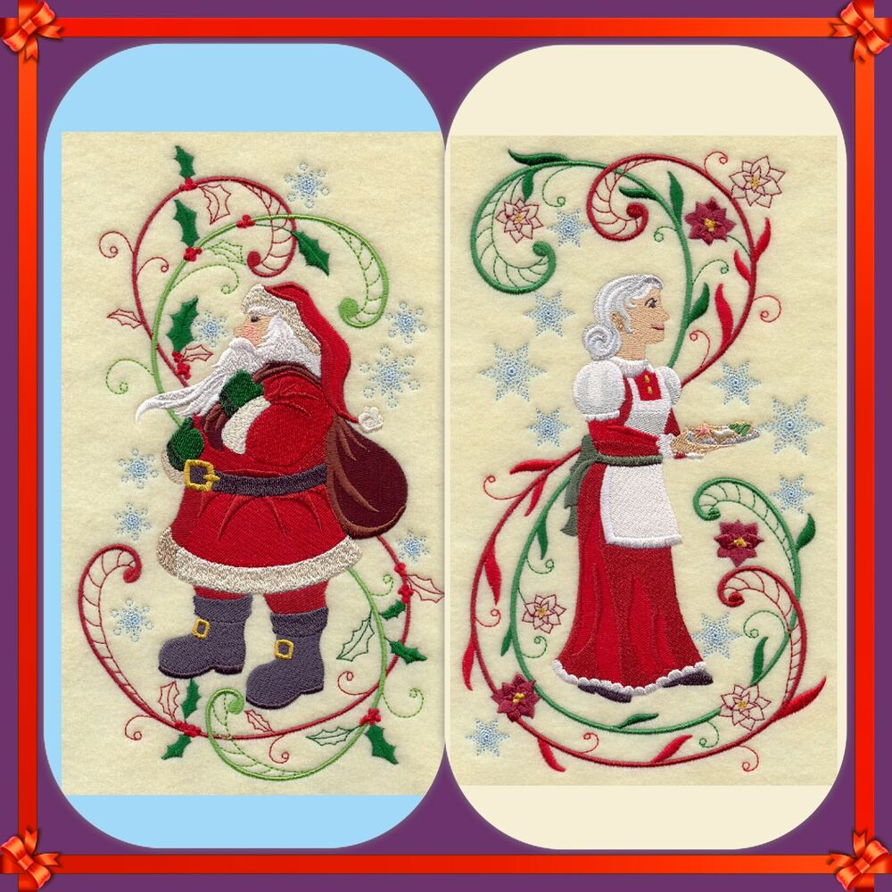 Mr and mrs claus christmas new set of 2 bath hand towels for Mr and mrs spa