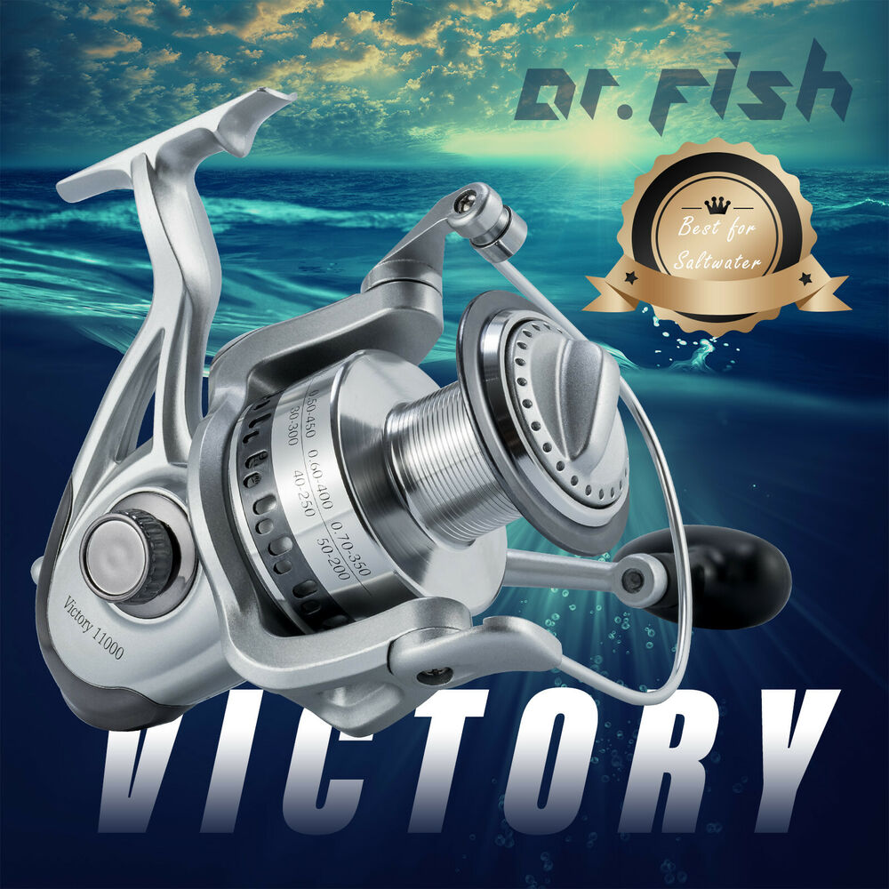 Super large saltwater spinning reel 11000 9 1bb offshore for Saltwater fishing reel