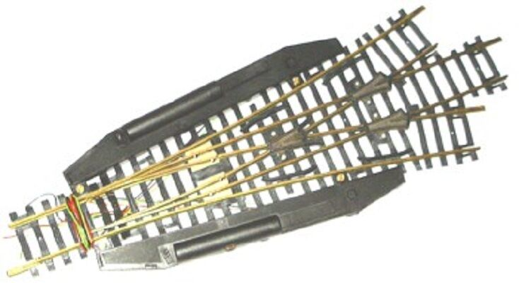 ho scale trains 3 way brass remote turnout switch track HO Train Wiring HO Train Track Wiring