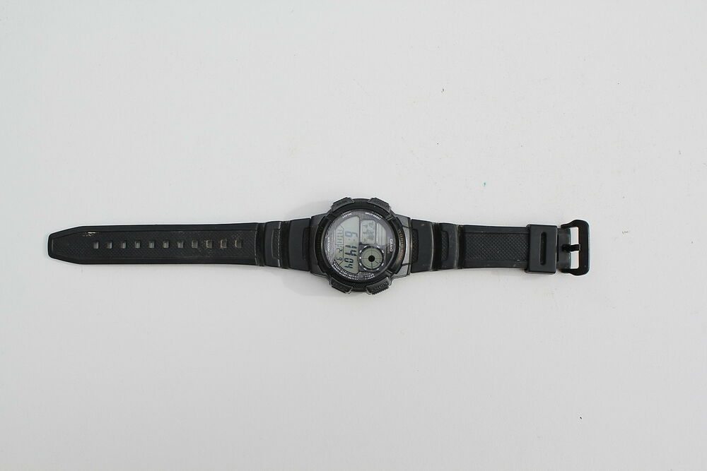 how to set time on casio ae 1000w