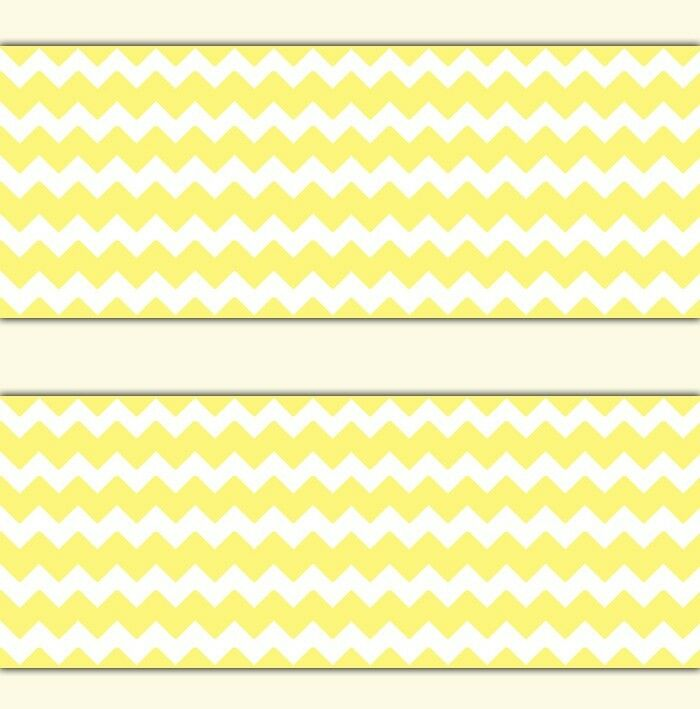 Yellow Chevron Wallpaper Border Wall Decal Baby Girl Boy