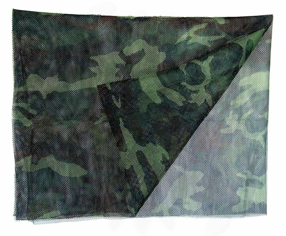 Military Issue 5 X 8 Ft Camo Net Woodland Camouflage Mesh