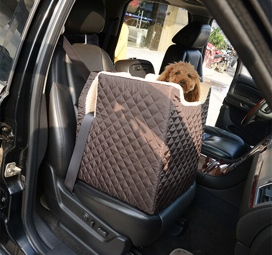 pet car seat seats cat dog kitty puppy carrier booster soft lookout large coffee ebay. Black Bedroom Furniture Sets. Home Design Ideas