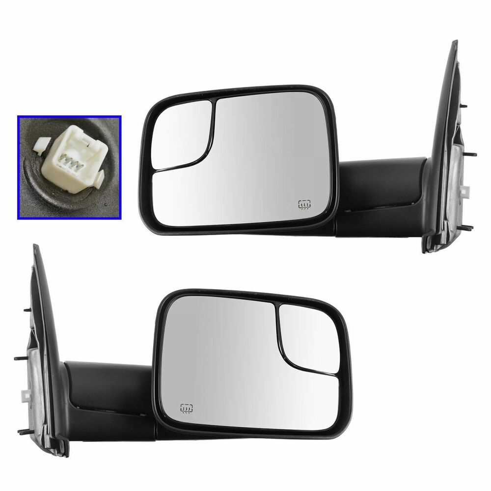 Oem 82207298 Power Heater Flip Up Style Tow Mirrors Pair