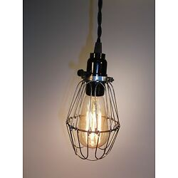Industrial Steel Wire Cage Light Pendant Fixture EDISON STYLE