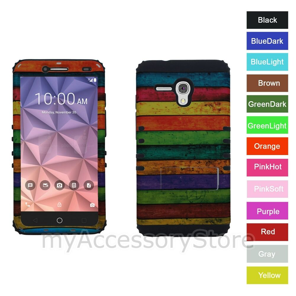 One Touch Fierce XL Painted Wood RKR Hardu0026Rubber Rugged Phone Case ...