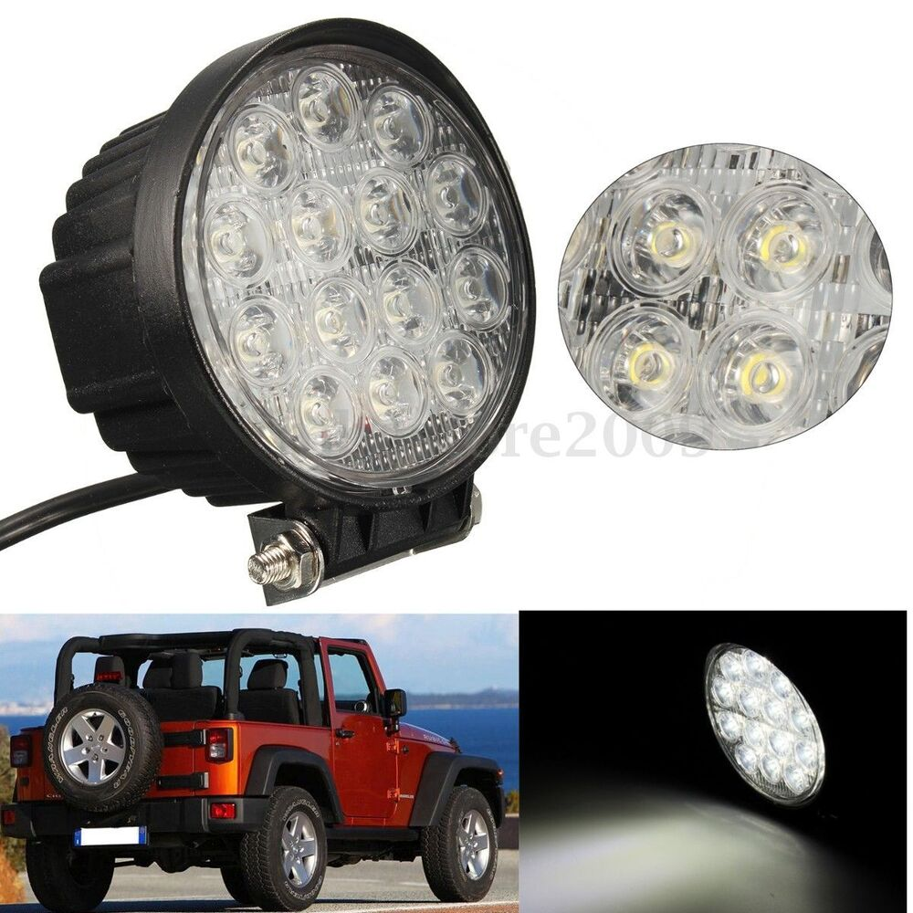 """4.5"""" 42W Round LED Work Light Bar Spot Lamp For Offroad"""