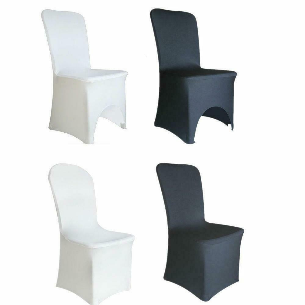 New Polyester Spandex Chair Cover Arched Flat Front Covers