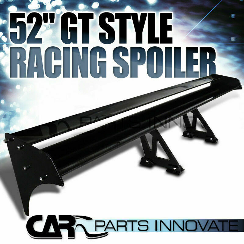 52 aluminum double deck gt racing trunk wing rear spoiler. Black Bedroom Furniture Sets. Home Design Ideas