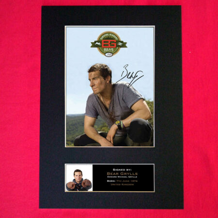 img-BEAR GRYLLS Signed Reproduction Autograph Mounted Photo Print A4 342