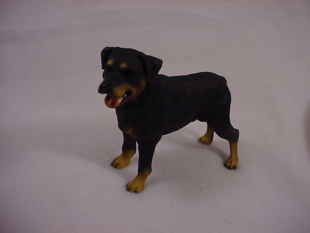 rottweiler dog hand painted figurine statue collectible. Black Bedroom Furniture Sets. Home Design Ideas