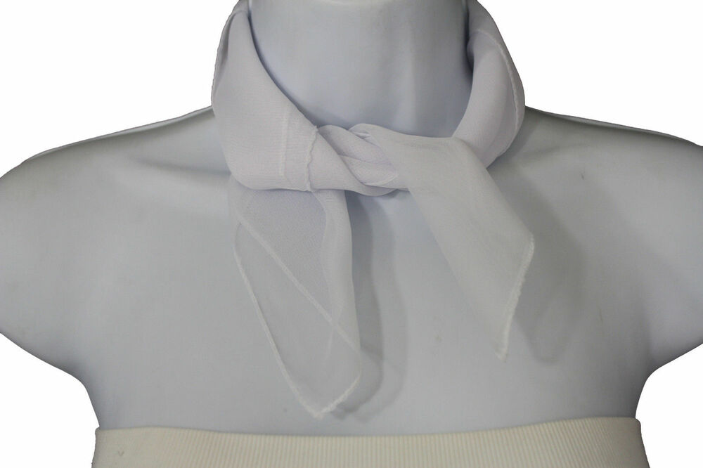 fashion neck scarf true white color small soft