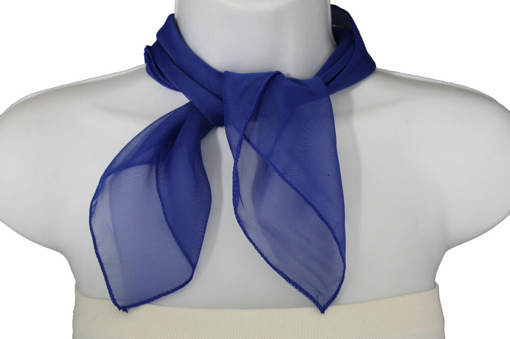 fashion neck scarf blue royal color small soft