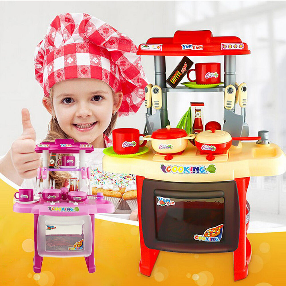 Play Cooking Toys : Kids childrens pretend role mini chef kitchen utensils