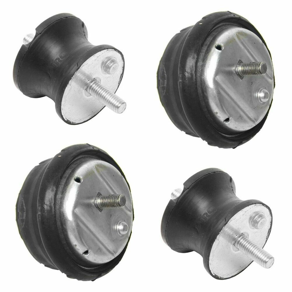 Engine Motor Transmission Mounts Kit Set Of 4 For Bmw 3