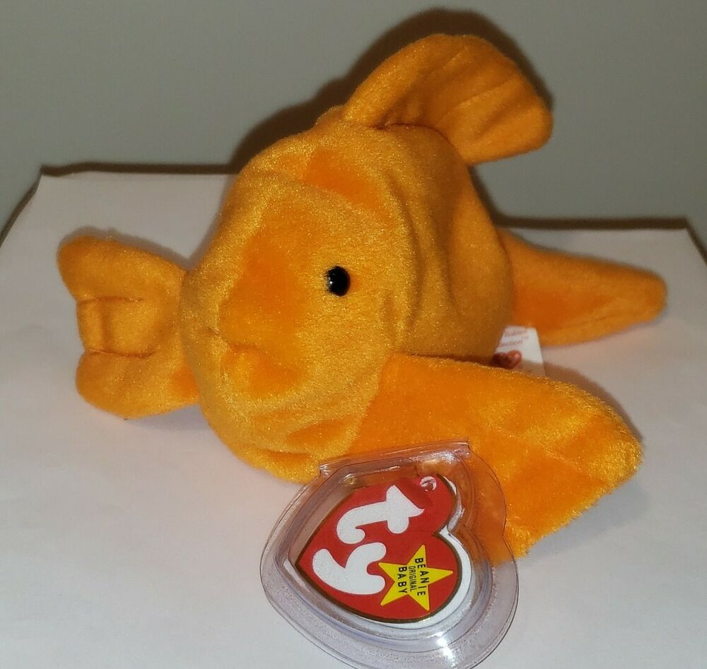 Ty beanie baby goldie the goldfish fish mint with mint for Fish beanie baby