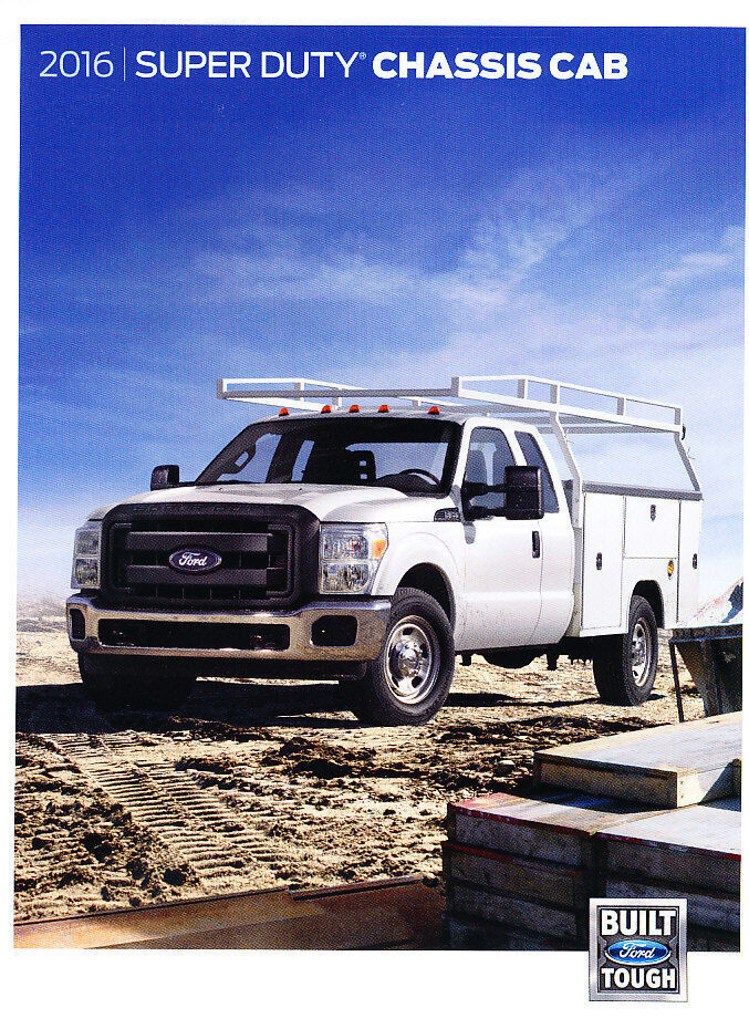 2016 ford super duty chassis cab truck 28 page brochure catalog f 350 f 550 ebay. Black Bedroom Furniture Sets. Home Design Ideas