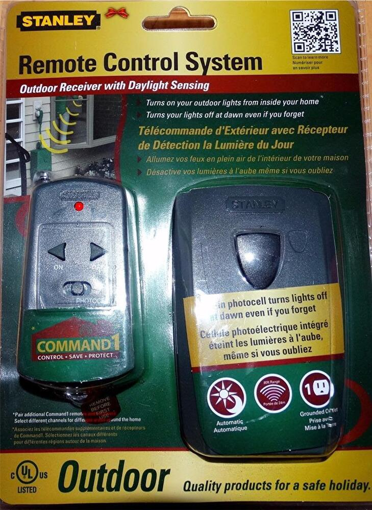 Stanley Remote Control System Turns On Outdoor Lights