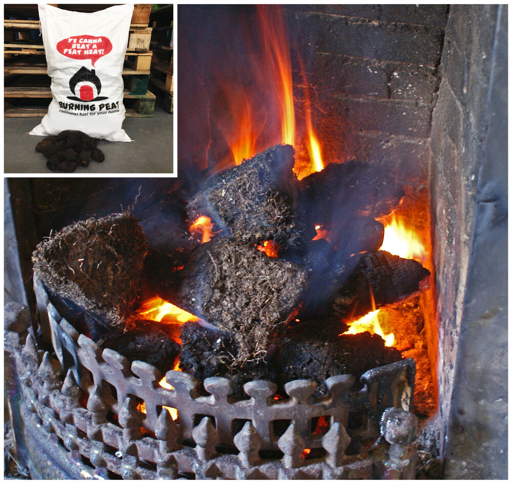 20kg Bag Peat Heat Smokeless Fuel Coal Fire Alternative