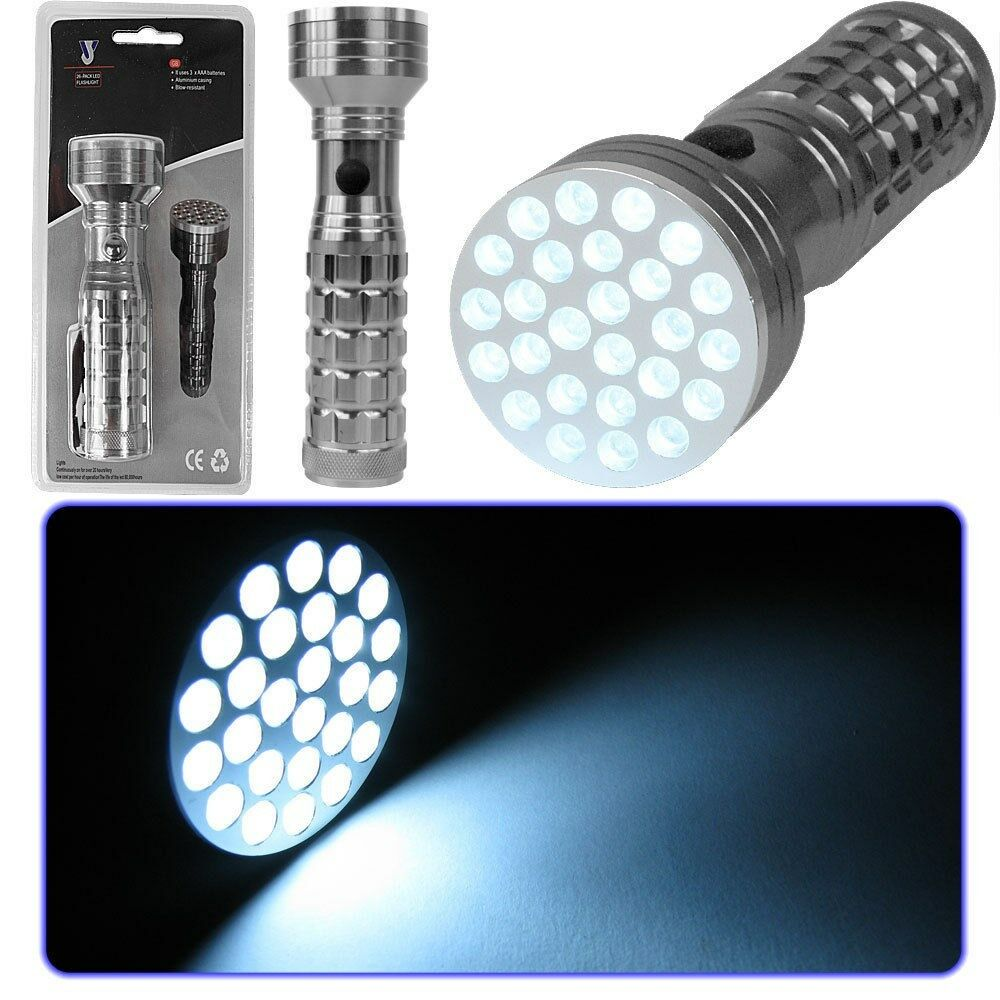 26 LED Super Bright LED Flashlight All Metal Construct