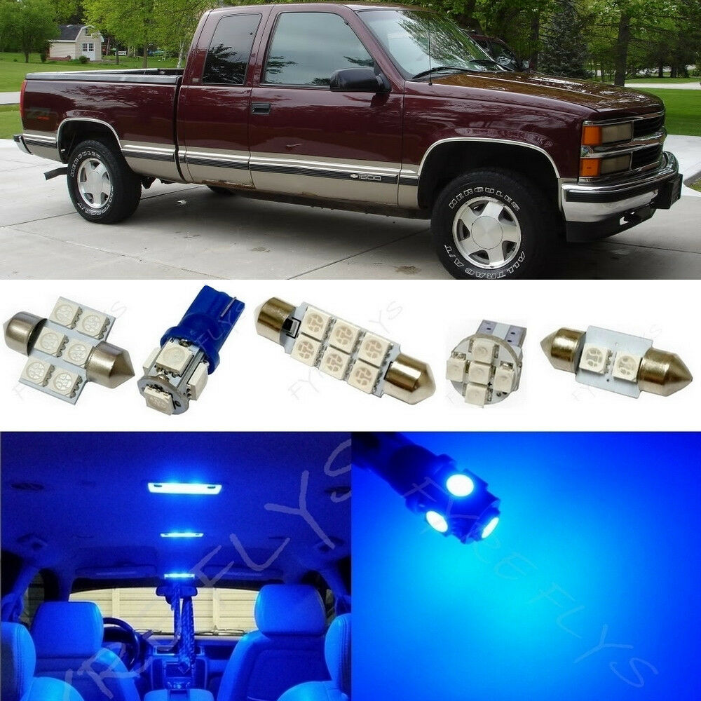 14x Blue Led Light Interior Package 1995 1998 Chevy