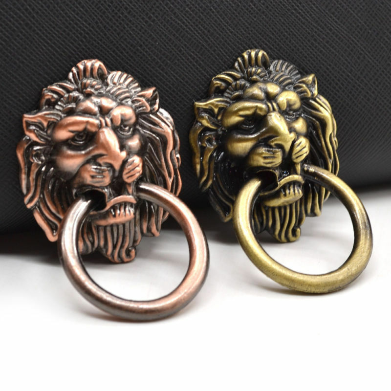 Lion Head Drawer Cabinet Handle Pull Knob Jewelry Box