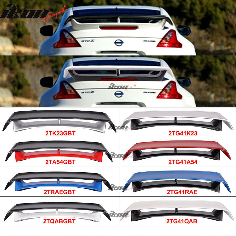 Nissan Fairlady 370z Nismo >> Fits 09-18 Nissan 370Z Nismo Style Painted Trunk Spoiler Wing Color - ABS | eBay