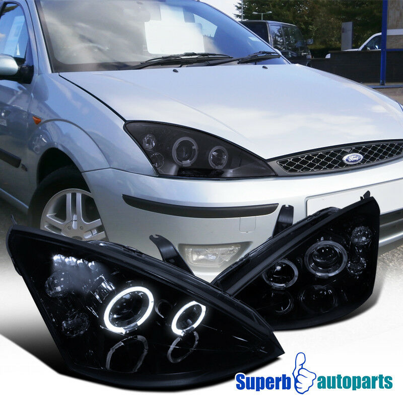 2000 2004 Ford Focus Dual Halo Angeleyes Led Projector