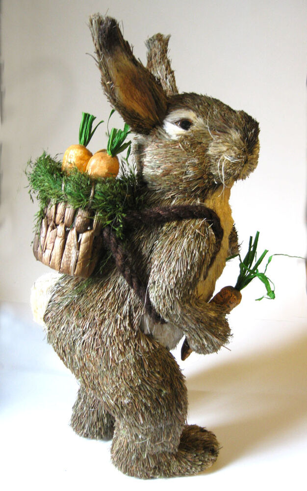 Sisal bunny rabbit figure garden spring elegant easter for Sisal decoration