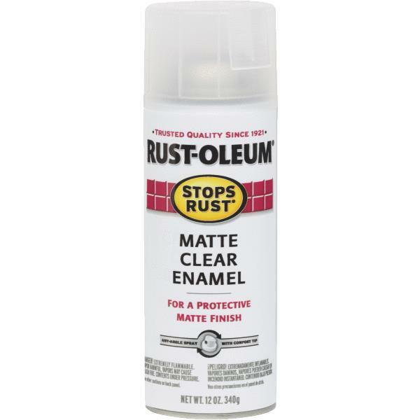 oz rustoleum stops rust matte clear enamel spray paint 285093 ebay. Black Bedroom Furniture Sets. Home Design Ideas